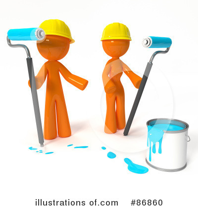 Royalty-Free (RF) Painting Clipart Illustration by Leo Blanchette - Stock Sample #86860