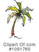 Palm Tree Clipart #1091760 by Steve Klinkel