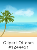 Royalty-Free (RF) Palm Tree Clipart Illustration #1244451