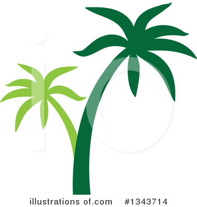 Royalty-Free (RF) Palm Tree Clipart Illustration by ColorMagic - Stock Sample #1343714