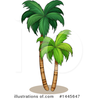 Palm Trees Clipart #1445647 by Graphics RF