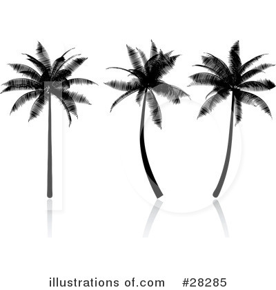 Royalty-Free (RF) Palm Tree Clipart Illustration by KJ Pargeter - Stock Sample #28285