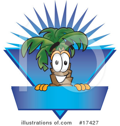 Palm Tree Mascot Clipart #17427 by Toons4Biz