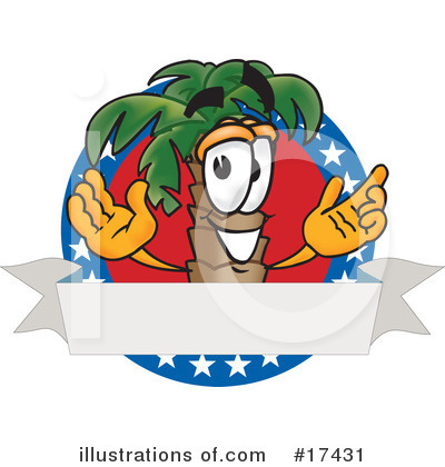 Palm Tree Mascot Clipart #17431 by Toons4Biz