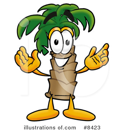 Royalty-Free (RF) Palm Tree Mascot Clipart Illustration by Toons4Biz - Stock Sample #8423