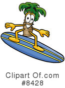 Royalty-Free (RF) Palm Tree Mascot Clipart Illustration #8428