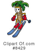 Palm Tree Mascot Clipart #8429