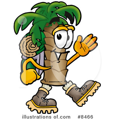 Palm Tree Mascot Clipart #8466 by Toons4Biz