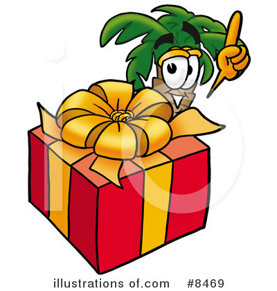 Palm Tree Mascot Clipart #8469 by Toons4Biz