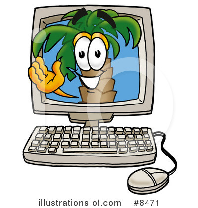 Palm Tree Mascot Clipart #8471 by Toons4Biz