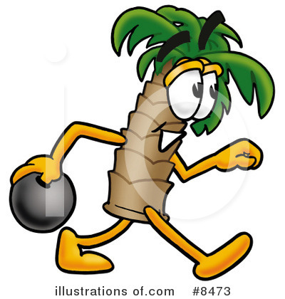 Palm Tree Mascot Clipart #8473 by Toons4Biz