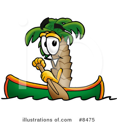 Palm Tree Mascot Clipart #8475 by Toons4Biz