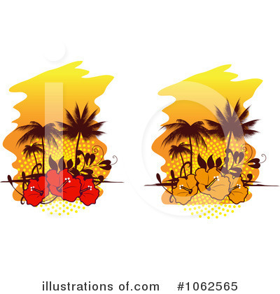 Tropical Island Clipart #1062565 by Vector Tradition SM
