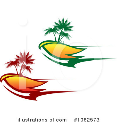 Tropical Island Clipart #1062573 by Vector Tradition SM