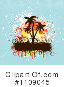 Palm Trees Clipart #1109045 by KJ Pargeter