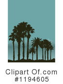 Palm Trees Clipart #1194605 by KJ Pargeter