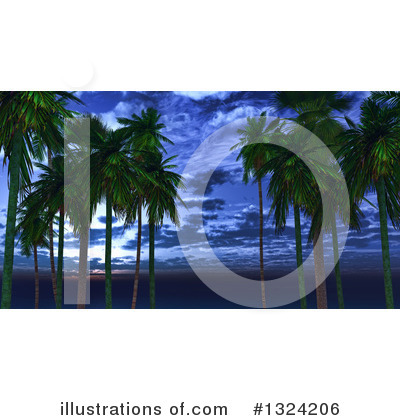 Tropical Beach Clipart #1324206 by KJ Pargeter