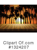 Palm Trees Clipart #1324207 by KJ Pargeter