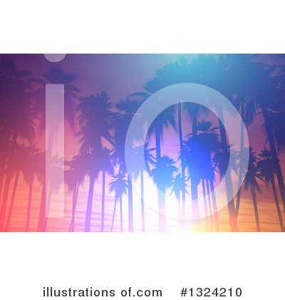 Tropical Beach Clipart #1324210 by KJ Pargeter