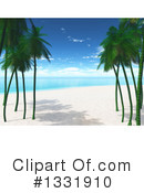 Palm Trees Clipart #1331910 by KJ Pargeter