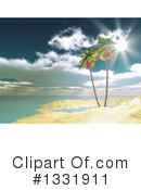 Palm Trees Clipart #1331911 by KJ Pargeter