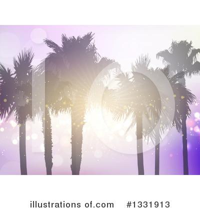 Tropical Beach Clipart #1331913 by KJ Pargeter