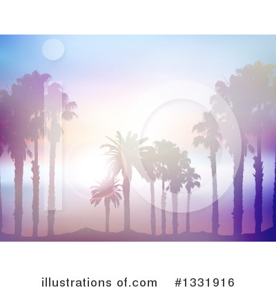 Tropical Beach Clipart #1331916 by KJ Pargeter
