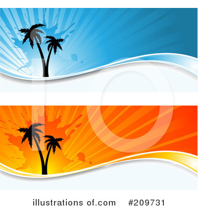Royalty-Free (RF) Palm Trees Clipart Illustration by KJ Pargeter - Stock Sample #209731