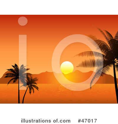 Tropical Beach Clipart #47017 by KJ Pargeter