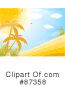 Royalty-Free (RF) Palm Trees Clipart Illustration #87358