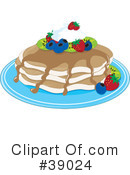 Royalty-Free (RF) Pancakes Clipart Illustration #39024