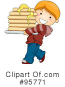 Royalty-Free (RF) Pancakes Clipart Illustration #95771