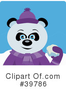 Panda Bear Clipart #39786 by Dennis Holmes Designs