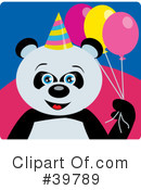 Panda Bear Clipart #39789 by Dennis Holmes Designs