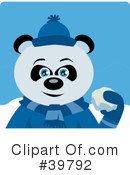 Panda Bear Clipart #39792 by Dennis Holmes Designs