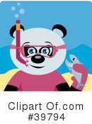 Panda Bear Clipart #39794 by Dennis Holmes Designs
