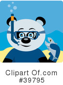 Panda Bear Clipart #39795 by Dennis Holmes Designs