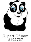 Royalty-Free (RF) Panda Clipart Illustration #102737