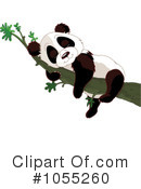 Royalty-Free (RF) Panda Clipart Illustration #1055260