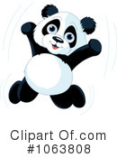 Royalty-Free (RF) Panda Clipart Illustration #1063808