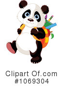 Royalty-Free (RF) Panda Clipart Illustration #1069304
