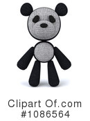 Royalty-Free (RF) Panda Clipart Illustration #1086564