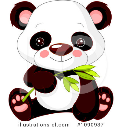 Panda Clipart #1090937 by Pushkin