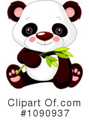 Royalty-Free (RF) panda Clipart Illustration #1090937