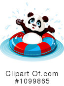 Royalty-Free (RF) panda Clipart Illustration #1099865