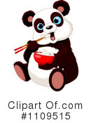 Royalty-Free (RF) Panda Clipart Illustration #1109515
