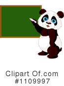 Royalty-Free (RF) Panda Clipart Illustration #1109997