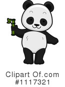 Royalty-Free (RF) Panda Clipart Illustration #1117321