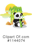 Royalty-Free (RF) Panda Clipart Illustration #1144074