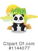Royalty-Free (RF) Panda Clipart Illustration #1144077